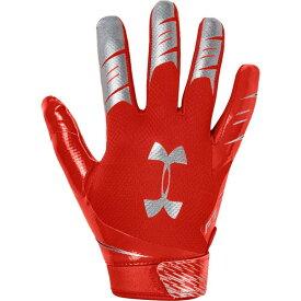 アンダーアーマー Under Armour メンズ アメリカンフットボール レシーバーグローブ グローブ【F7 Receiver Gloves】Dark Orange/Metallic Silver