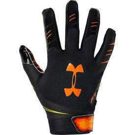 アンダーアーマー Under Armour メンズ アメリカンフットボール レシーバーグローブ グローブ【F7 Receiver Gloves】Black/Orange Spark/NOVELTY