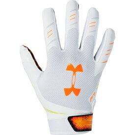 アンダーアーマー Under Armour メンズ アメリカンフットボール レシーバーグローブ グローブ【F7 Receiver Gloves】White/Orange Spark/NOVELTY
