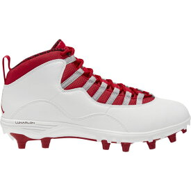ナイキ ジョーダン Jordan メンズ アメリカンフットボール シューズ・靴【Retro 10 TD Mid】White/Gym Red/Light Steel Grey