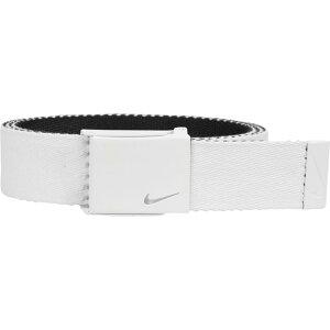 ナイキ Nike メンズ ゴルフ ベルト【classic essentials web golf belt】White/Black