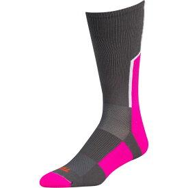 ツウィンシティ Twin City メンズ アメリカンフットボール 【player id custom number crew socks】Graphite/Hot Pink/White #9 / Single Sock