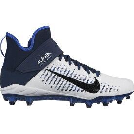 ナイキ Nike メンズ アメリカンフットボール シューズ・靴【alpha menace pro 2 mid】White/Black/College Navy