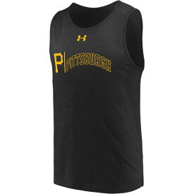 アンダーアーマー Under Armour メンズ タンクトップ トップス【mlb dual logo tank】MLB Pittsburgh Pirates Black