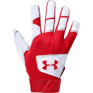 アンダーアーマー Under Armour メンズ 野球 バッティンググローブ グローブ【Clean-Up Batting Gloves】Red/White