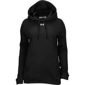 アンダーアーマー Under Armour レディース パーカー トップス【team hustle fleece hoodie】Black/White