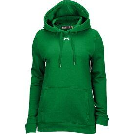 アンダーアーマー Under Armour レディース パーカー トップス【team hustle fleece hoodie】Kelly Green/White