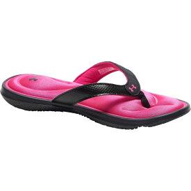 アンダーアーマー Under Armour レディース ビーチサンダル シューズ・靴【marbella vii thong】Black/Pink Surge/Pink Surge