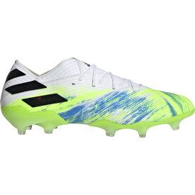 アディダス adidas メンズ サッカー シューズ・靴【nemeziz 19.1 fg】White/Core Black/Signal Green UNIFORIA
