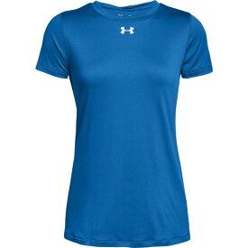 アンダーアーマー Under Armour レディース フィットネス・トレーニング Tシャツ トップス【team locker s/s t-shirt】Powderkeg Blue/Metallic Silver