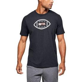 アンダーアーマー Under Armour メンズ アメリカンフットボール Tシャツ トップス【ftbl ball t-shirt】Black/White/Beta
