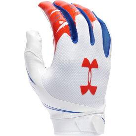 アンダーアーマー Under Armour メンズ アメリカンフットボール レシーバーグローブ グローブ【f7 novelty receiver gloves】White/Red NOVELTY