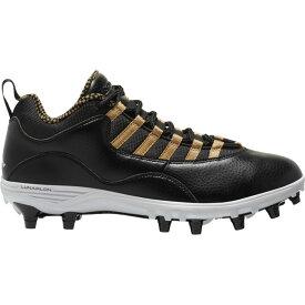 ナイキ ジョーダン Jordan メンズ アメリカンフットボール シューズ・靴【retro 10 td low】Black/White/Metallic Gold