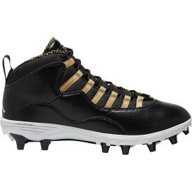 ナイキ ジョーダン Jordan メンズ アメリカンフットボール シューズ・靴【retro 10 td mid】Black/White/Metallic Gold