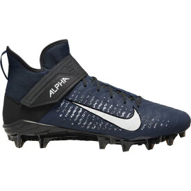 ナイキ Nike メンズ アメリカンフットボール シューズ・靴【alpha menace pro 2 mid】College Navy/White/Black/Black
