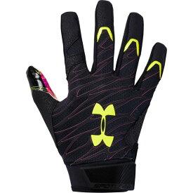 アンダーアーマー Under Armour メンズ アメリカンフットボール レシーバーグローブ グローブ【spotlight le nfl receiver gloves】Black/X-Ray DRIP