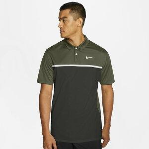 ナイキ Nike メンズ ゴルフ ポロシャツ トップス【dry victory colorblock golf polo】Medium Olive/Medium Khaki