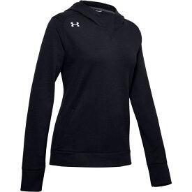 アンダーアーマー Under Armour レディース フィットネス・トレーニング パーカー トップス【team elevated fleece hoodie】Black/White