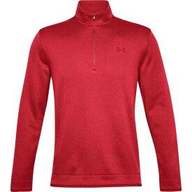 アンダーアーマー Under Armour メンズ ゴルフ ハーフジップ ニット・セーター トップス【storm sweater golf 1/2 zip】Versa Red/Versa Red