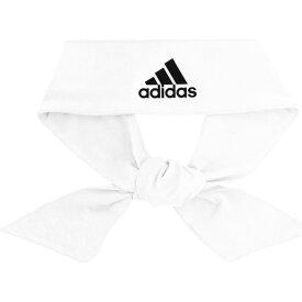 アディダス adidas ユニセックス ヘアアクセサリー ヘッドバンド【alphaskin tie headband】White/Black