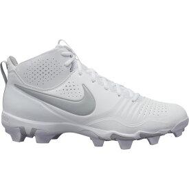 ナイキ Nike メンズ 野球 シューズ・靴【Alpha Huarache 3 Varsity Mid Keystone】White/Light Smoke Grey/White