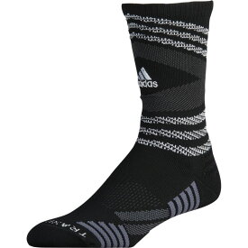 アディダス adidas ユニセックス バスケットボール 【Speed Mesh Team Crew Socks】Black/White/Light Grey/Onix