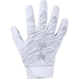アンダーアーマー Under Armour メンズ アメリカンフットボール レシーバーグローブ グローブ【Spotlight NFL Receiver Gloves】White/Metallic Silver
