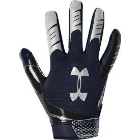 アンダーアーマー Under Armour メンズ アメリカンフットボール レシーバーグローブ グローブ【F7 Receiver Gloves】Midnight Navy/Metallic Silver