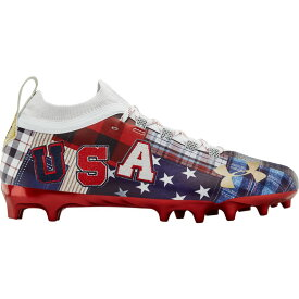 アンダーアーマー Under Armour メンズ アメリカンフットボール シューズ・靴【Spotlight LUX MC LE】Red/Midnight Navy/Metallic Gold Americana