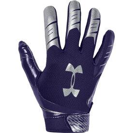アンダーアーマー Under Armour メンズ アメリカンフットボール レシーバーグローブ グローブ【F7 Receiver Gloves】Purple/Metallic Silver