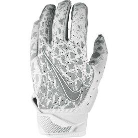 ナイキ Nike メンズ アメリカンフットボール レシーバーグローブ グローブ【Vapor Jet 6.0 OBJ Receiver Gloves】White/White/Metallic Silver ANIMAL INSTINCT PRINT