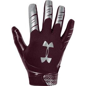 アンダーアーマー Under Armour メンズ アメリカンフットボール レシーバーグローブ グローブ【F7 Receiver Gloves】Maroon/Metallic Silver