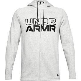 アンダーアーマー Under Armour メンズ パーカー トップス【Baseline Fleece F/Z Hoodie】Grey