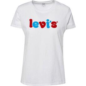 リーバイス Levi's レディース Tシャツ トップス【The Perfect T-Shirt】Rounded Logo White