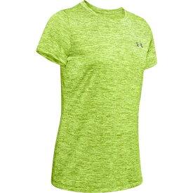 アンダーアーマー Under Armour レディース フィットネス・トレーニング Tシャツ トップス【Tech T-Shirt】Lime Fizz/Green Citrine/Metallic Silver