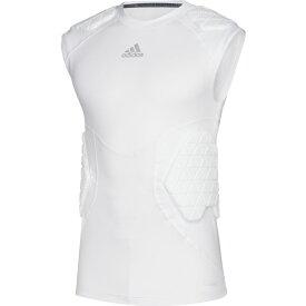 アディダス adidas メンズ アメリカンフットボール ノースリーブ トップス【Alphaskin Force 5 Pad Sleeveless Top】White