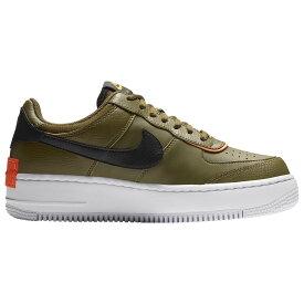 ナイキ Nike レディース バスケットボール エアフォースワン シューズ・靴【Air Force 1 Shadow】Olive/Olive/Black Gel
