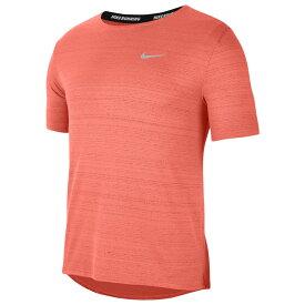 ナイキ Nike メンズ ランニング・ウォーキング トップス【Dry Miler Short Sleeve Top】Bright Mango/Reflective Silver