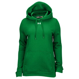 アンダーアーマー Under Armour レディース パーカー トップス【Team Hustle Fleece Hoodie】Kelly Green/White