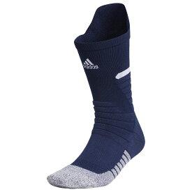 アディダス adidas ユニセックス アメリカンフットボール 【adiZero Football Cushioned Crew Socks】Navy/White