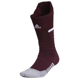 アディダス adidas ユニセックス アメリカンフットボール 【adiZero Football Cushioned Crew Socks】Maroon/White