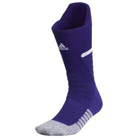 アディダス adidas ユニセックス アメリカンフットボール 【adiZero Football Cushioned Crew Socks】Collegiate Purple/White