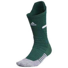 アディダス adidas ユニセックス アメリカンフットボール 【adiZero Football Cushioned Crew Socks】Dark Green/White