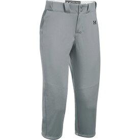 アンダーアーマー Under Armour レディース 野球 ボトムス・パンツ【Team Icon Knicker Pants】Grey/Black