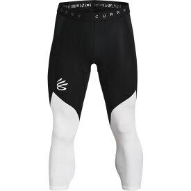 アンダーアーマー Under Armour メンズ バスケットボール タイツ・スパッツ ボトムス・パンツ【Curry Underrated 3/4 Tight】Black/White