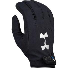 アンダーアーマー Under Armour メンズ アメリカンフットボール グローブ【Sideline ColdGear Gloves】Black/Metallic Silver