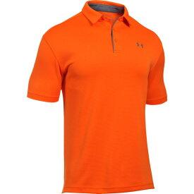アンダーアーマー Under Armour メンズ ゴルフ ポロシャツ トップス【Tech Golf Polo】Team Orange/Graphite/Graphite