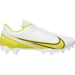 ナイキ Nike メンズ アメリカンフットボール シューズ・靴【Vapor Edge Varsity】White/Optic Yellow/Black