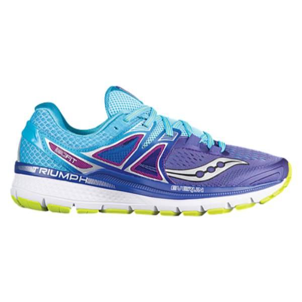 サッカニー レディース ランニング・ウォーキング シューズ・靴【Saucony Triumph ISO 3】Purple/Blue/Citron