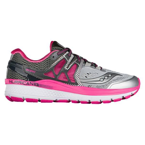 サッカニー レディース ランニング・ウォーキング シューズ・靴【Saucony Hurricane ISO 3】Grey/Pink/White